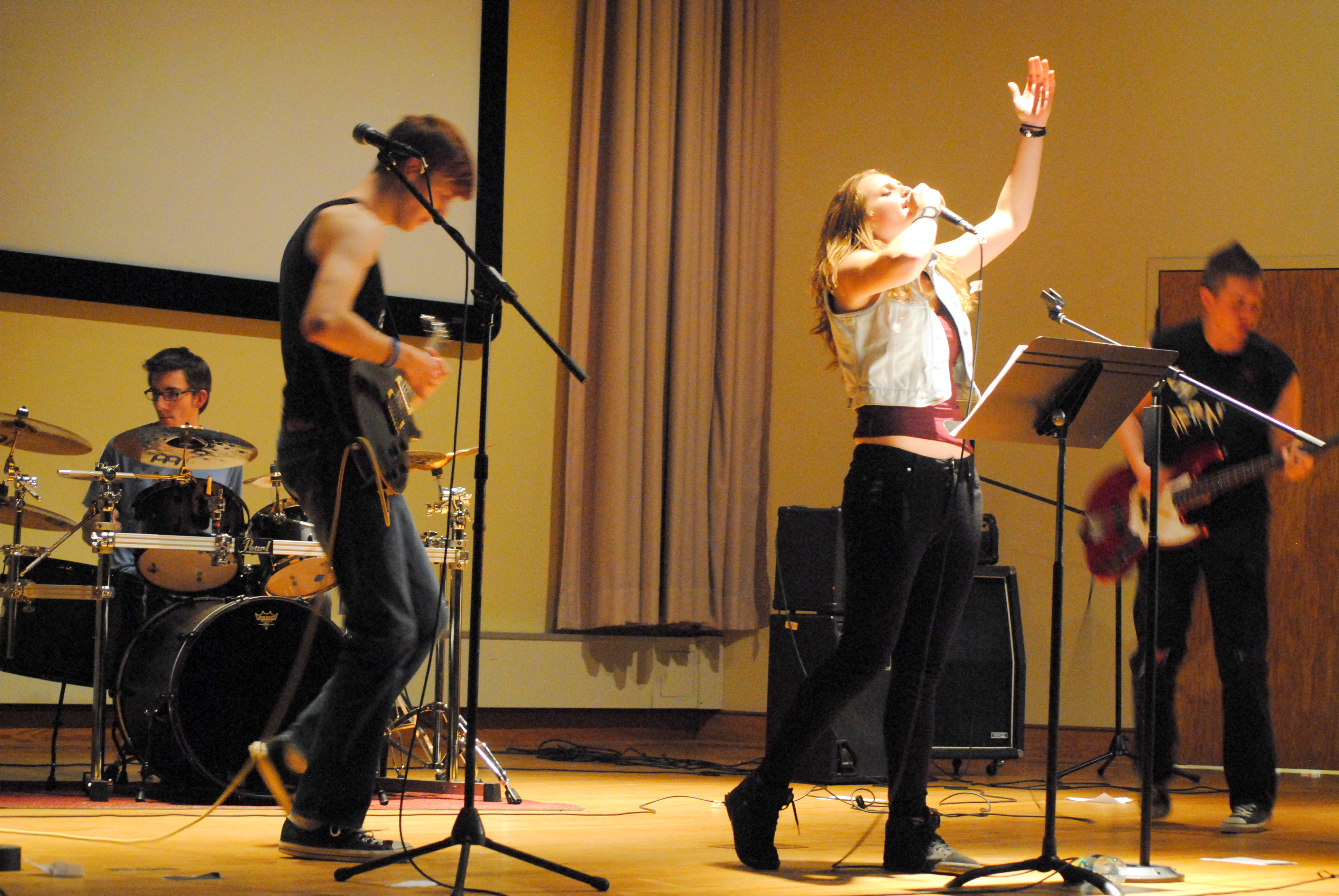 On Thursday, Mount Students and Faculty Hosted a Punk Rock Show in Knott Auditorium. Photo Courtesy of William Hardisky, Photography Editor.