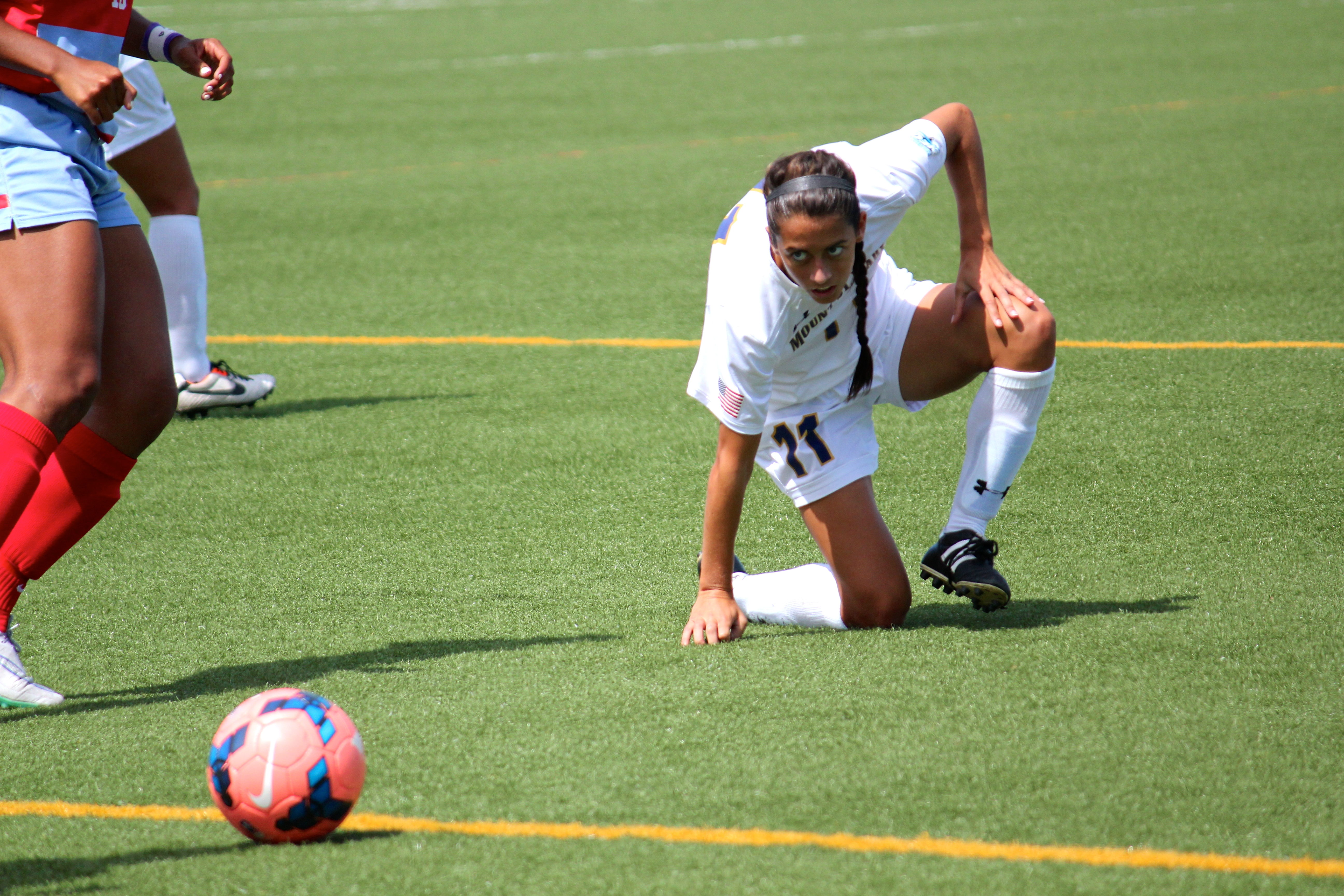 Picture of a Mount soccer player.
