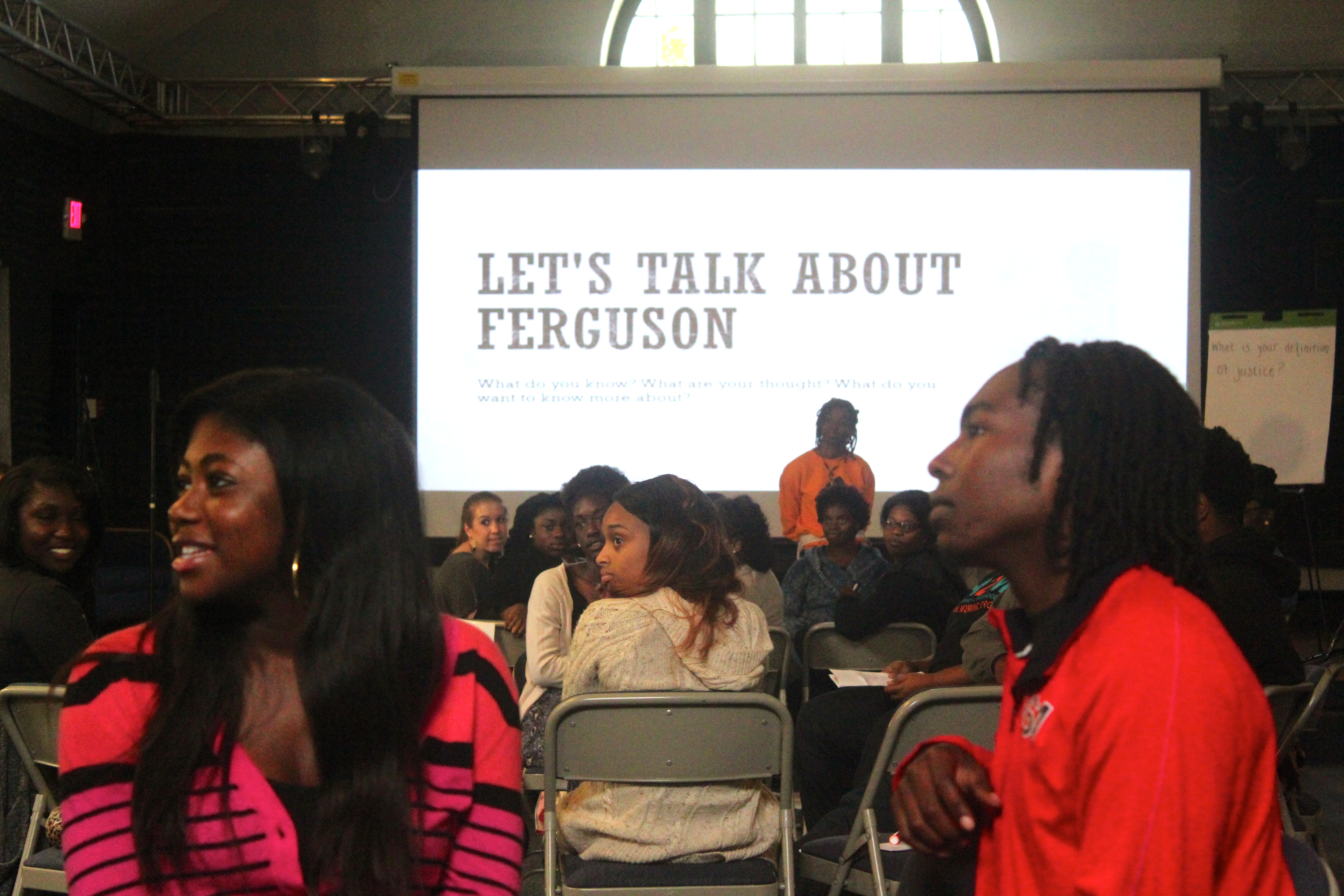 "Photo from BSU's ""Let's Talk about Ferguson"""