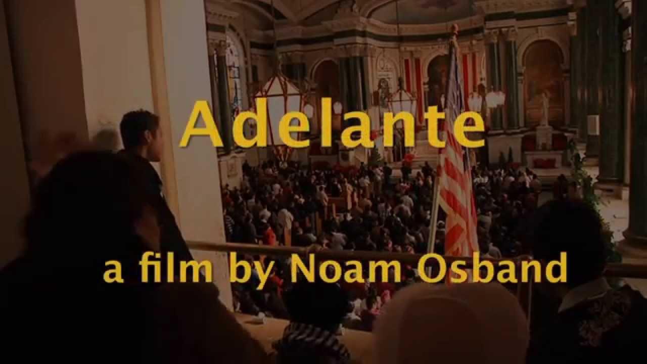 Photo of Adelante title screen.