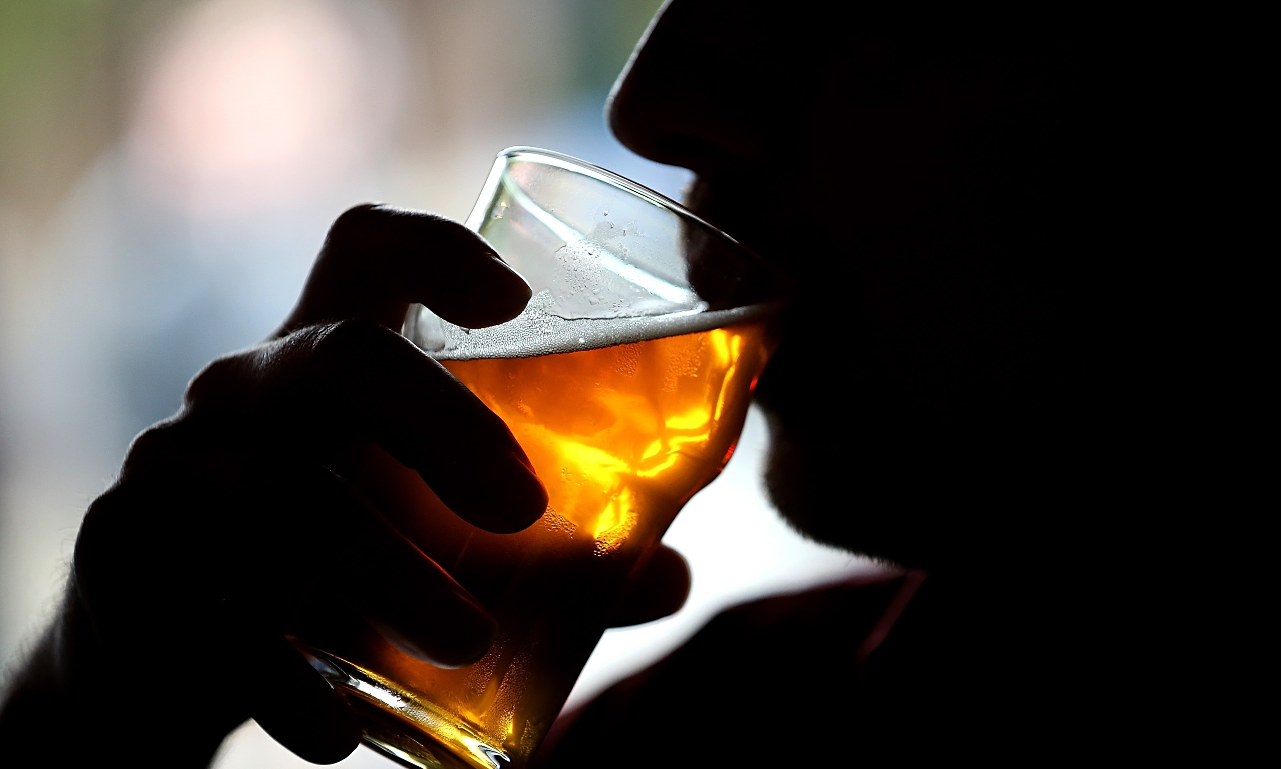 image of man drinking alcohol