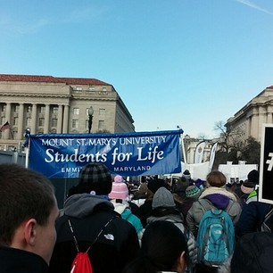 Mount students at March for Life