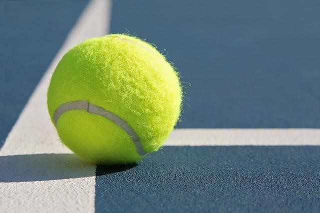 Photo of tennis ball.