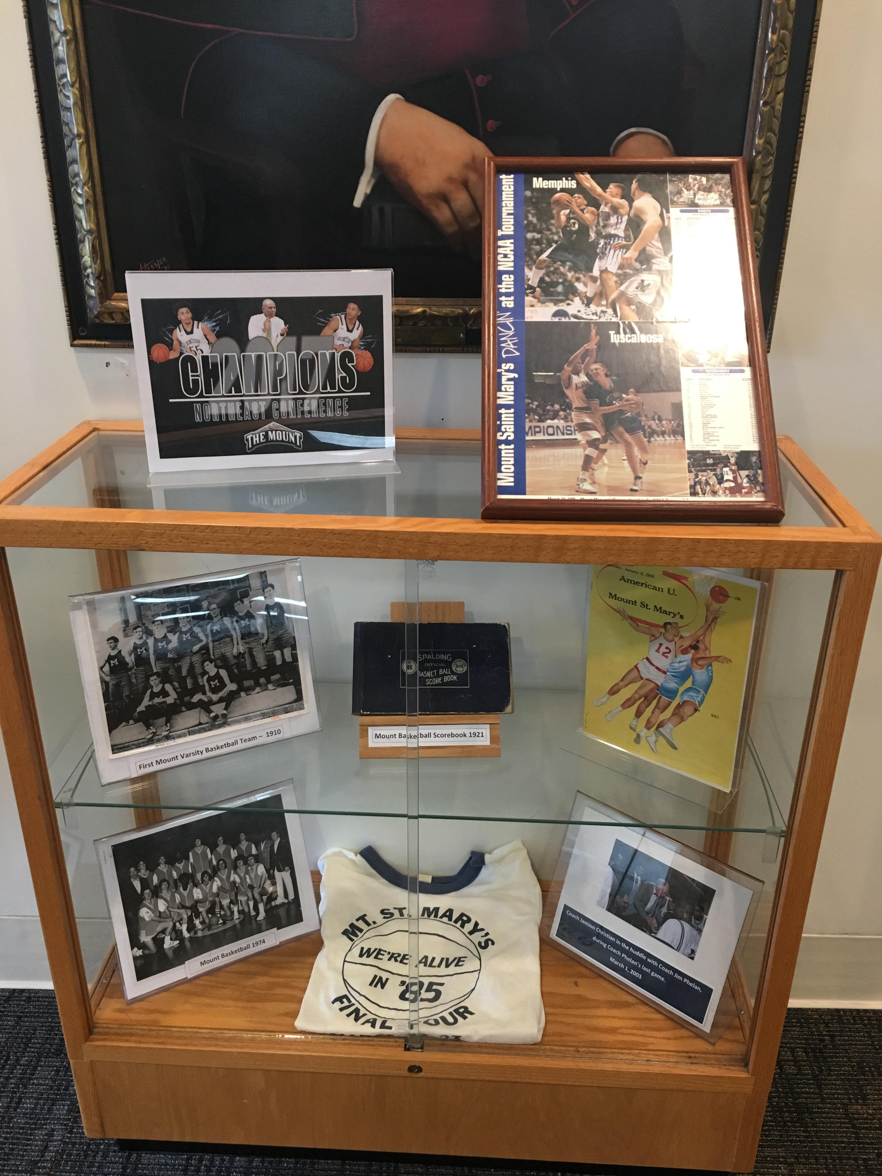 Photos of the History of Mount Basketball from the Mount Archives